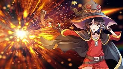 Megumin Anime Konosuba Wallpapers Backgrounds God Desktop