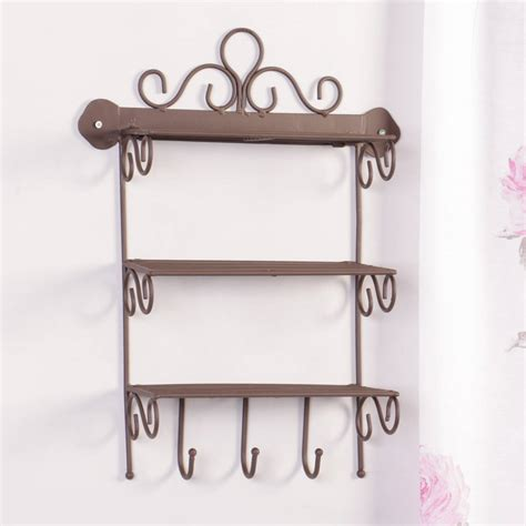 Decorative Wrought Iron Wall Shelves By Dibor