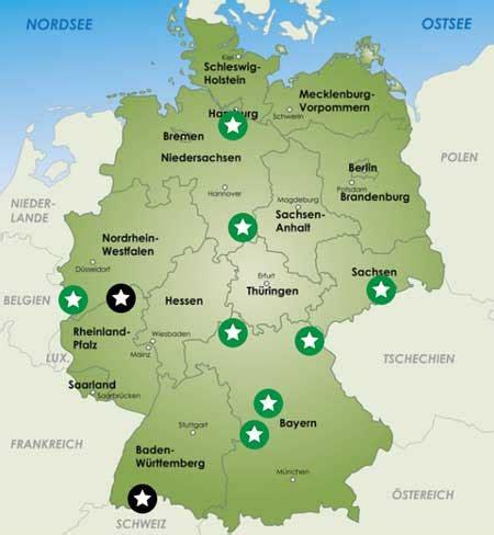 Wanderwege Deutschland Karte