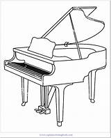 Coloring Piano Pages Popular Title sketch template
