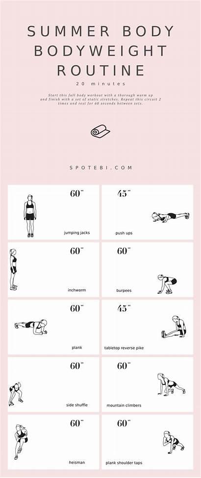 Routine Workout Bodyweight Upper Spotebi Workouts Minute
