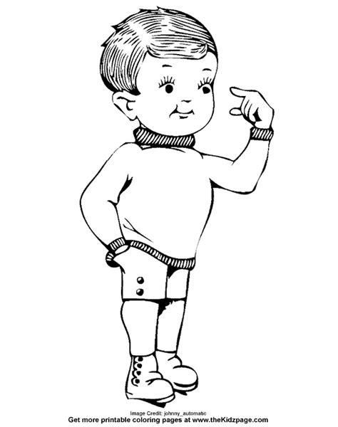 young kid peeking   fingers  coloring