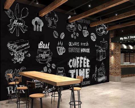 beibehang  wallpaper black  white handmade coffee