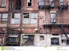 Run Down Apartment Facade Stock Image Image 30093541