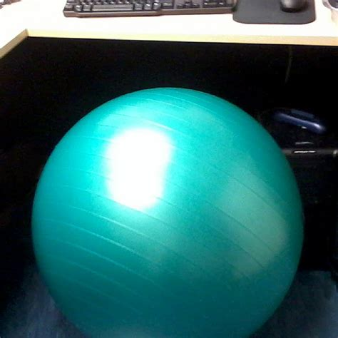 health benefits of sitting on an exercise ball popsugar