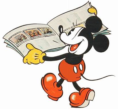 Mickey Mouse Reading Clipart Disney Read Classic