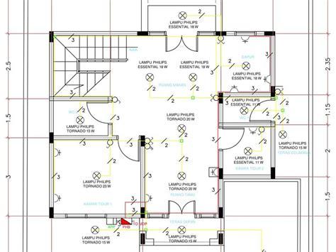 perencanaan instalasi listrik rumah bertingkat dua lantai egsean