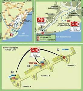 Barcelona Spain Airport Map