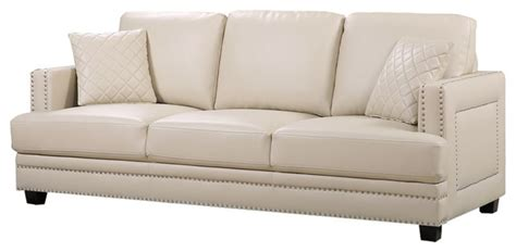 beige leather sofa and loveseat ferrara beige leather sofa contemporary sofas by