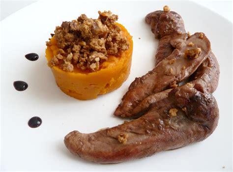 cuisiner des aiguillettes de canard aiguillettes de canard caramélisées purée de potimarron