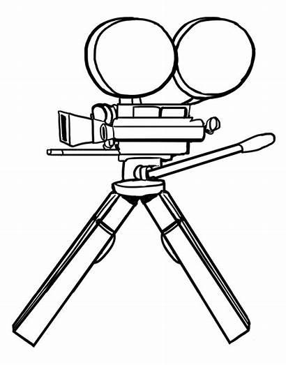 Camera Drawing Film Icon Clipart Projector Edison
