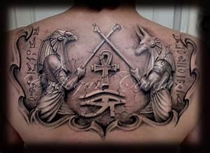 anubis - horus tattoo by ErdoganCavdar on DeviantArt