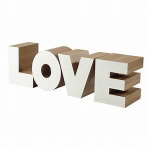 bout de canape en bois blanc l 121 cm love maisons du monde With nettoyage tapis avec bout de canapé bois blanc