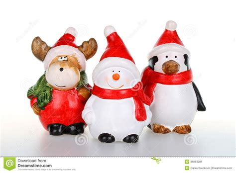 christmas figurines stock image image of character