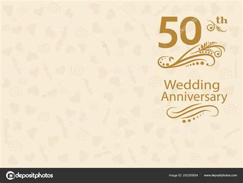 50th Wedding anniversary Invitation Stock Vector