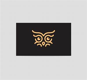 Owl eyes logo business card template the design love for Business card with logo