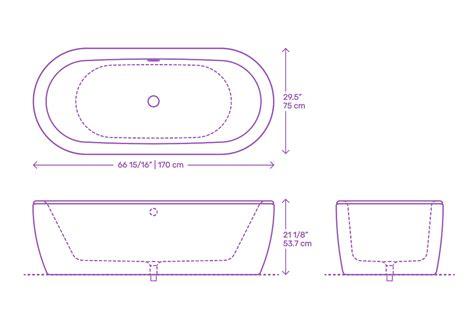 width of tub bathtubs baths dimensions drawings dimensions guide