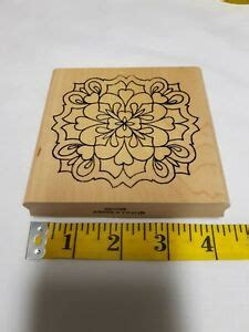 holly berry house  wood rubber stamp floral pattern