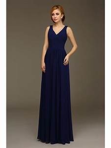 long navy blue a line formal wedding bridesmaid dresses With navy blue dresses for wedding guest