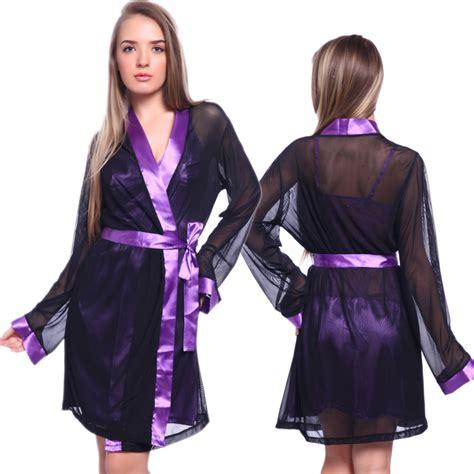 robe de chambre femme satin womens silk satin nighties sleeve nightwear