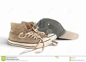 Vintage Baseball Shoes And Hat Stock Image - Image: 20731311