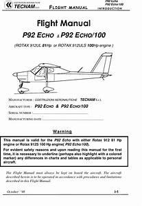 P92pfm P92echo Technam Flight Manual
