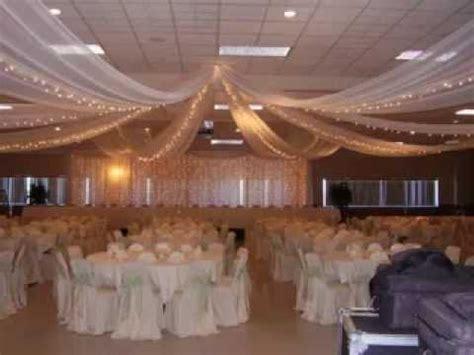 gold silk drapes diy wedding ceiling decorating ideas