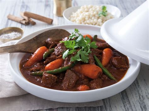 beef tagine  pearl couscous recipe recipes