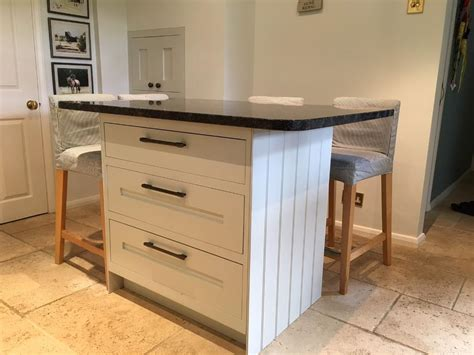 Freestanding Kitchen Island, 3 Large Draws, Complete With