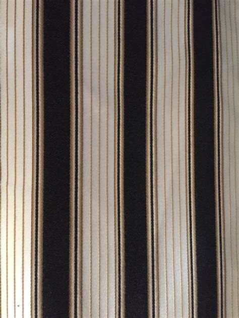 Black and Tan Stripe Upholstery Fabric by the Yard