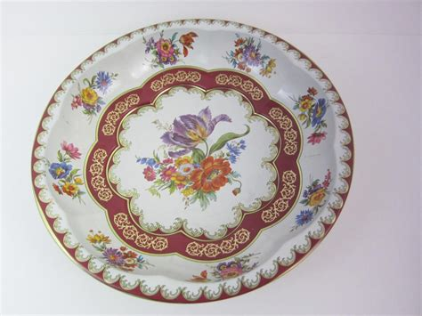 Daher Decorated Ware 11101 by Daher Decorated Tin Ware Vintage 1971 2pc Set Tray