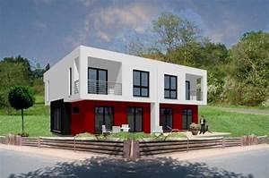 Doppelhaus Grundriss Beispiele : individuell geplant kubisches doppelhaus in ~ Lizthompson.info Haus und Dekorationen