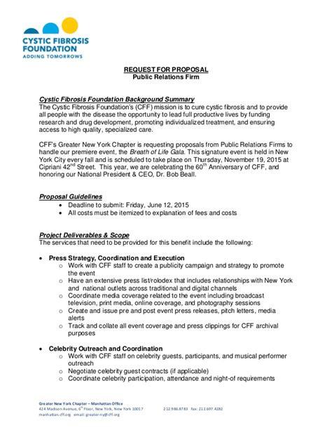 cystic fibrosis foundation request  proposal public