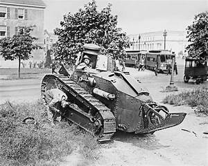 Two Men With Vintage Tank 1916 Vintage 8x10 Reprint Of Old