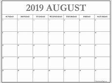 August 2019 calendar 56+ templates of 2019 printable