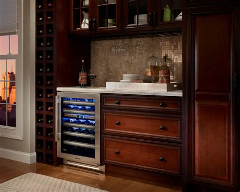 wine cooler in kitchen cabinet cool dual zone wine cooler in kitchen other metro with 1907