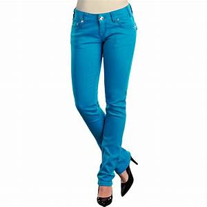 Rock u0026 Roll Cowgirl Tonal Stitch Colored Skinny Jeans - Low Rise (For Women) - Save 38%