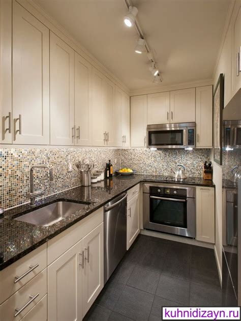 Маленькие кухни бежевого цвета  120 фото