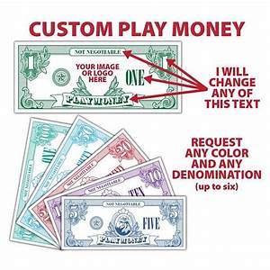 142 best my print templates images on pinterest With custom fake money template