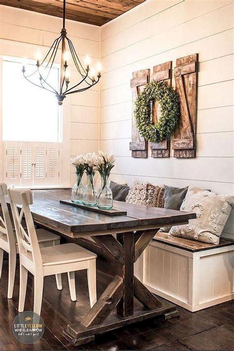 Farmhouse wall decor can be tricky. 20 Easy DIY Rustic Farmhouse Decor Ideas in 2020 | Farmhouse dining room table, Dining room wall ...