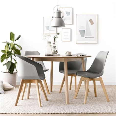 mesa redonda  cm de madera kenay home