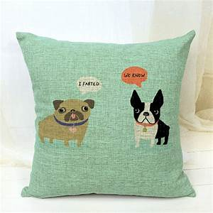 Free shippingboston terrier decorative throw pillows for Cute decorative bed pillows