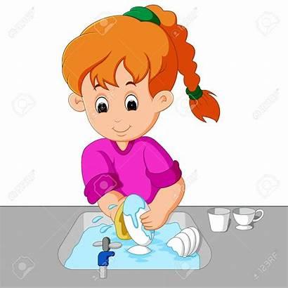 Dishes Washing Clipart Platos Laver Vaisselle Wash