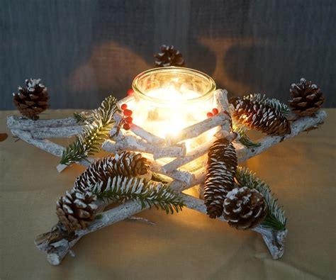 weihnachtsdeko mit holz adventskranz weihnachtsdeko tischdeko holz mit kerzenglas 40x40x12cm wei 223 grau kaufen