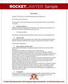 Simple Term Sheet Template Term Sheet Template Free Term Sheet With Sle