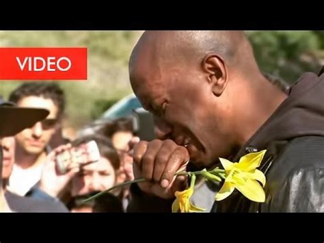 tyrese gibson crying   place   died paul