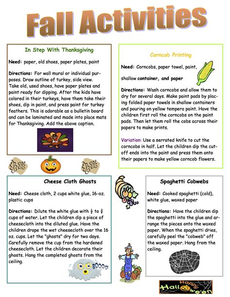 october newsletter ideas ccrr early learning