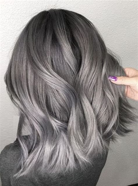 Ash Hairstyles Medium Hair by Ombre With Ash Highlights For Medium Hairstyles 2018