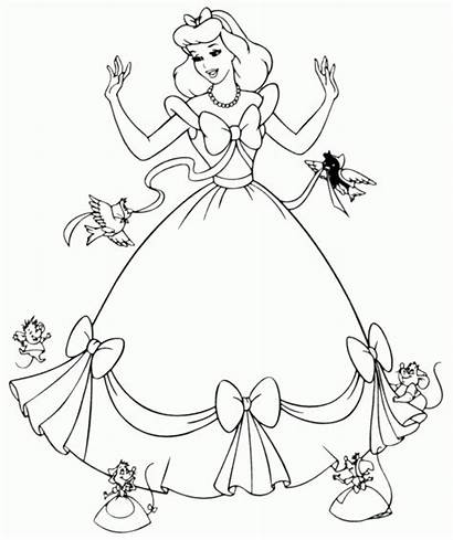 Cinderella Coloring Clipart Sheets Library Pages Printable