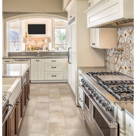 beige kitchen tiles style selections cityside beige porcelain floor and wall 1576